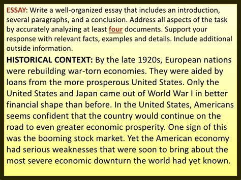 Causes Of The Great Depression Essay by Depression Causes Essay Great On