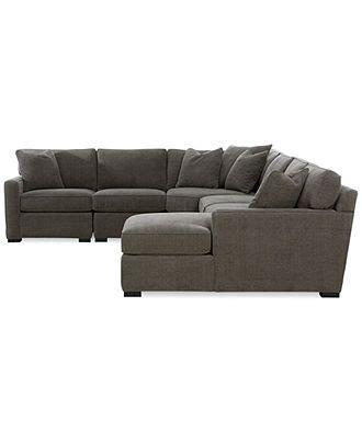 radley 5 fabric chaise modular sectional sofa