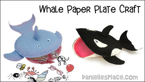 Whale Paper Plate Craft - paper plate whale craft