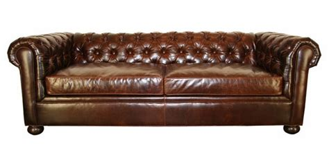 apartment size leather chesterfield studio sleeper