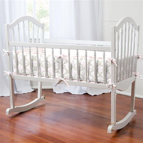 bassinet bedding pink and taupe damask cradle bedding cradle bedding for