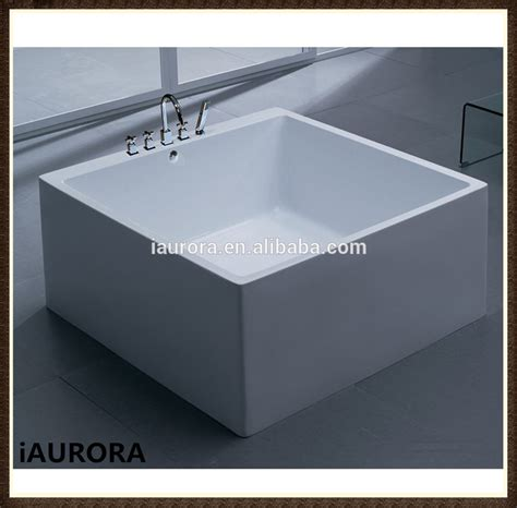 square shaped small freestanding acrylic 1200mm bathtub
