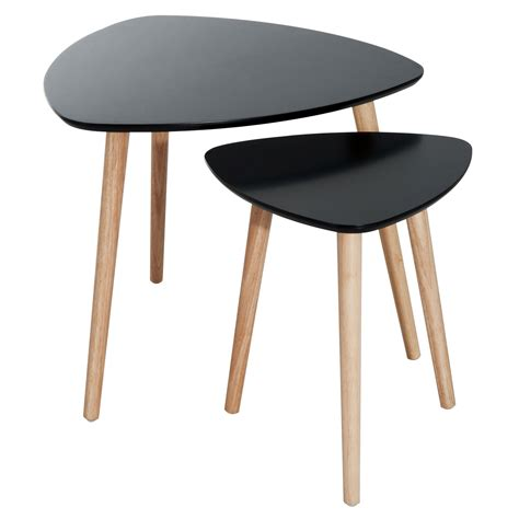 accent tables home goods homcom wooden modern danish retro nesting accent end table