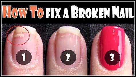 broken nail how to fix a broken nail repair your split nails easy