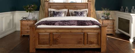 Handmade Solid Oak Beds Sleigh Four Poster Wooden Beds