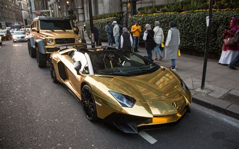 Golden Lamborghini Gold Plated Mercedes Bentley And Lamborghini Flown To