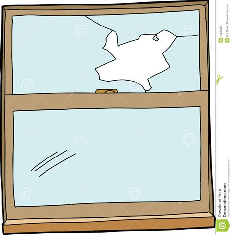 glass cartoon broken cartoon window stock vector illustration of
