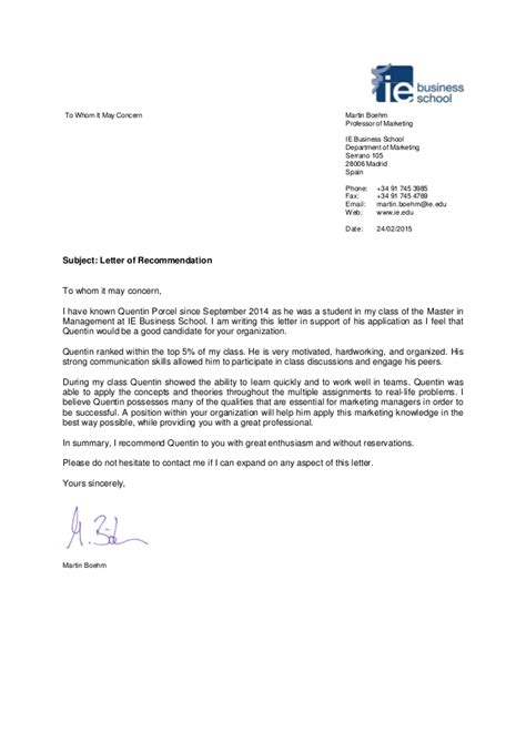 Business Letter Of Recommendation Pdf recommendation letter pdf recommendation letter