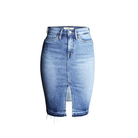 2016 new arrival denim skirts womens pencil front