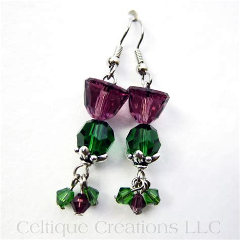 Scottish Handmade Jewellery - scottish thistle earrings handmade jewelry with