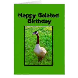 happy late birthday card template goose birthday cards goose birthday card templates