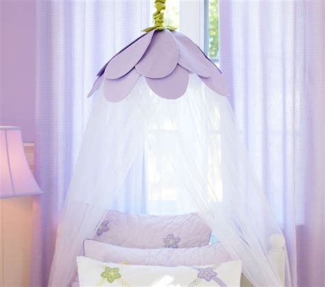 Childrens Bed Canopy Lavender Petal Canopy Traditional Bedding By Pottery Barn