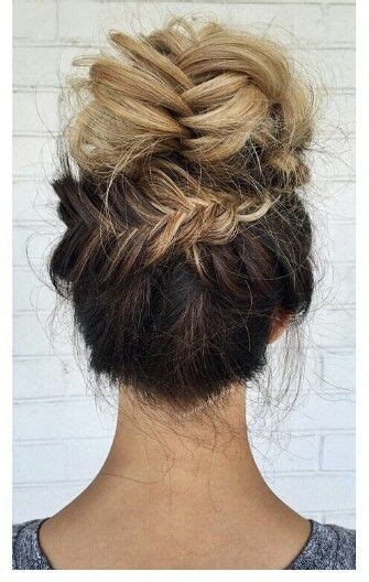 how to simple up do wedding 2013 pinterest blonde ombre fishtail braided updo bun hairstyle
