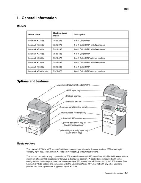 Lexmark X X734de X736de X738de X738dtemfp 7526 Service Manual