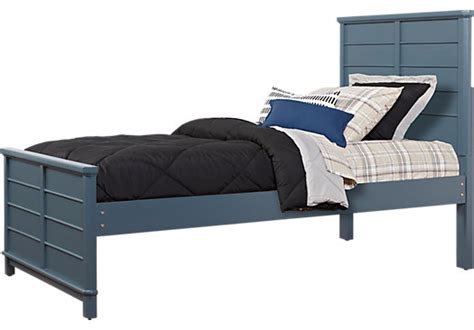 blue twin bed bay street blue 3 pc twin panel bed beds colors