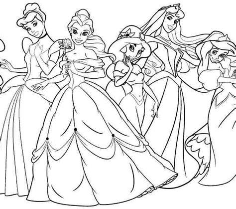 11 disney princess coloring page to print print color craft disney princess colouring book 11 disney princess coloring
