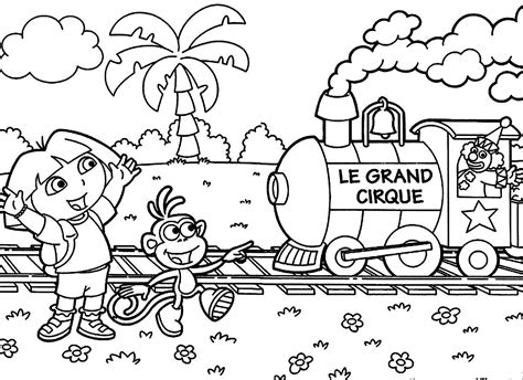 Dora The Explorer Coloring Pages Bestofcoloring Com Free The Explorer Coloring Pages
