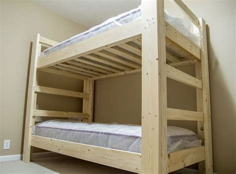 easy  strong   bunk bed bunk bed plans bunk
