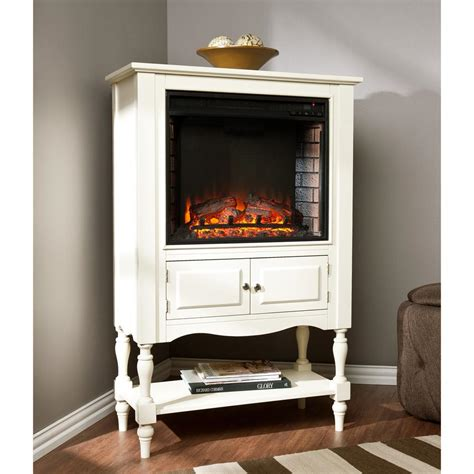Antique Electric Fireplace by Southern Enterprises Horatio 32 25 In Convertible Tower