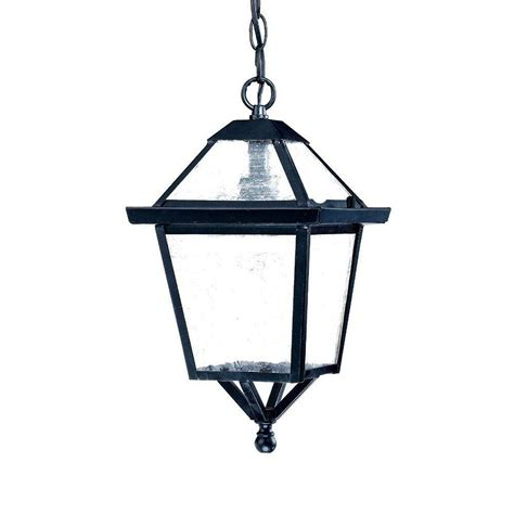 Outdoor Hanging Light Fixture Acclaim Lighting Bay Collection 1 Light Matte Black Outdoor Hanging Light Fixture 7616bk