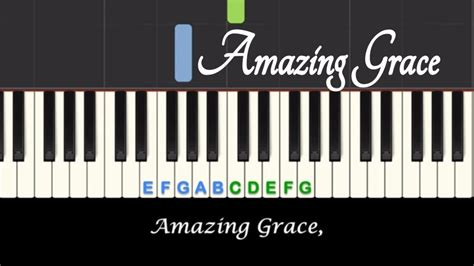 tutorial piano amazing grace amazing grace piano tutorial and sing along with free