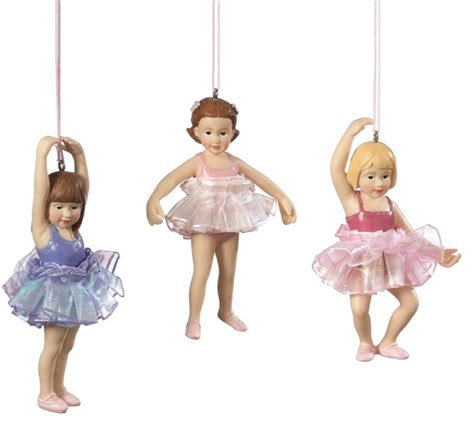 child ballerina christmas ornament set of 3 midwest cbk