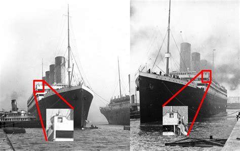 titanic on pinterest rms titanic decks and ships r 243 żnice między rms olympic z lewej a rms titanic z