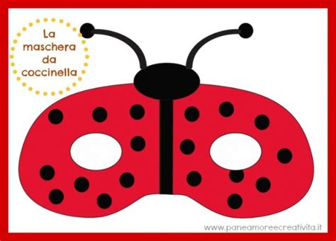 printable ladybird mask template carnevale con i bambini la maschera e il costume da