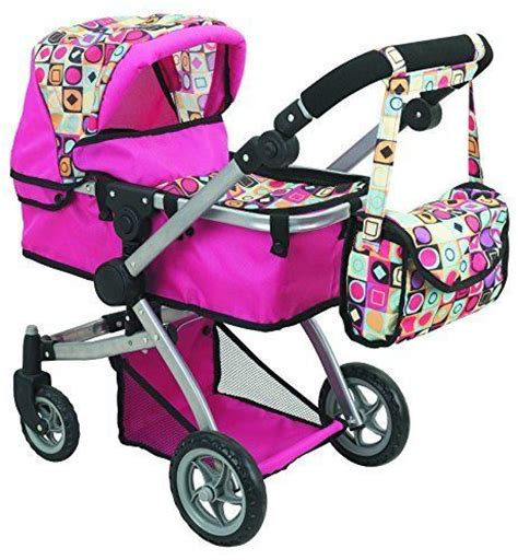 babydoll stroller baby doll stroller free carriage bag carrier pink buggy
