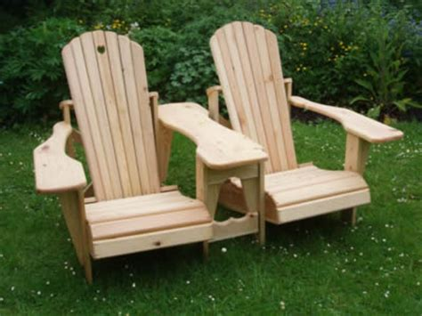 bench with table in middle adirondack chairs and benches