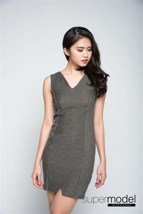 Wesley Dress wesley stripes bodycon dress grey 50 discount