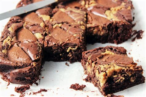 Peanut Butter Melted Brownies Premium the best peanut butter brownies supper in the suburbs