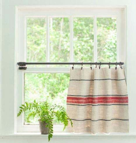 Grain Sack Curtains Grain Sack Curtains Pinterest Sacks Grain Sack And Grains
