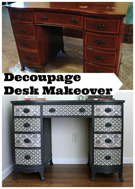 Decoupage A Desk - decoupage desk makeover in the garage 174