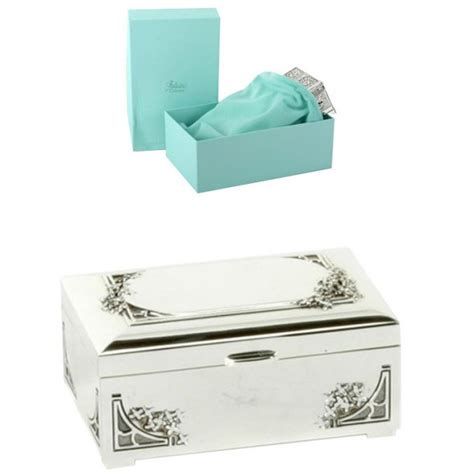 s day flowers silver box engraved silver rectangle trinket box with flowers