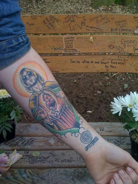 kurt cobain tattoo 15 awesome and nirvana tattoos awesome nirvana