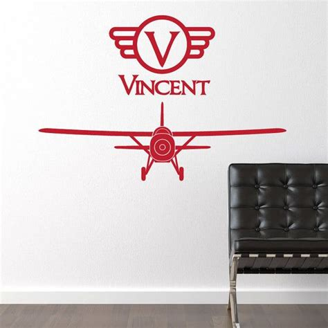 planes wall stickers airplane vinyl wall decal vintage boy wall sticker plane