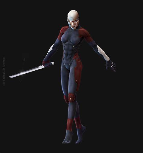 grey ninja wallpaper alexander von sass 3d gallery metal gear solid cyborg