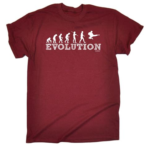T Shirt Kaos Evolution Judo evolution karate mens t shirt birthday martial arts