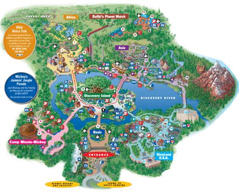 map of animal kingdom disney s animal kingdom information map attractions guide