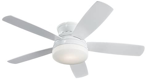 Modern Flush Mount Ceiling Fans by Monte Carlo Fan 5tv52whd 52 Quot Traverse Flush