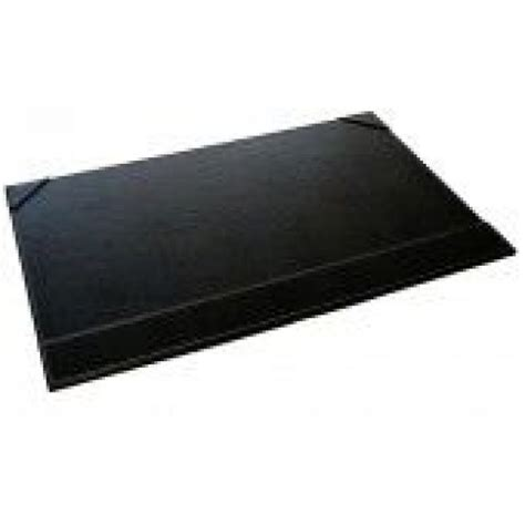 Faux Leather Desk Mat by Faux Leather Desk Blotter Pad Color Black