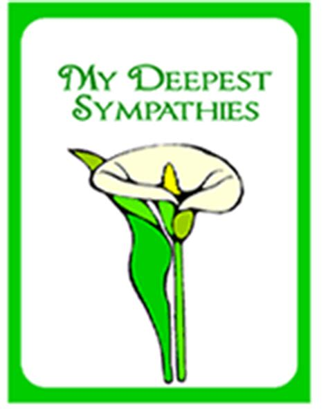 Deepest Sympathy Card Template by Free Printable My Deepest Sympathies Sympathy Card