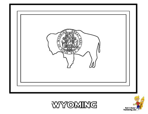 free wyoming state map coloring pages