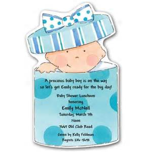 baby in gift box diecut shower invitations paperstyle