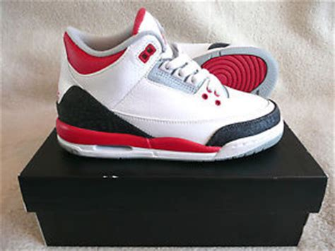 Nike Air Jordan 3 Retro (GS) White Fire Red Women Boys