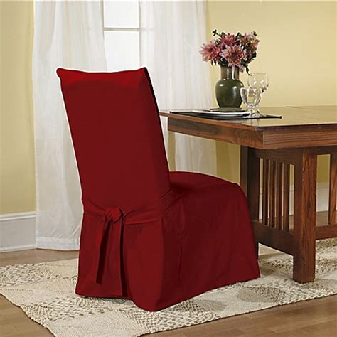 Sure Fit Dining Room Chair Slipcovers Sure Fit 174 Duck Supreme Cotton Dining Room Chair Slipcover Www Bedbathandbeyond