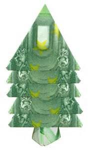 origami weihnachtsbaum falten das geldgeschenk f 252 r