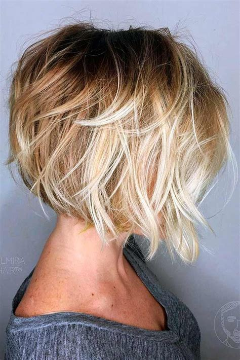 messy bob hair style back side 35 stylish bob haircuts for a new look haircuts bobs