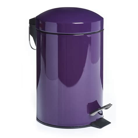 bathroom bins wilko dome pedal bin small purple at wilko com